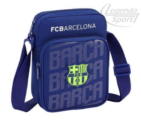 Barcelona oldaltáska kék-neon zöld