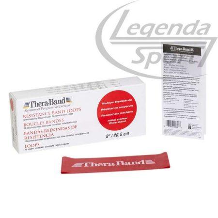 Thera Band gumiszalag 20,5 cm piros közepes erős