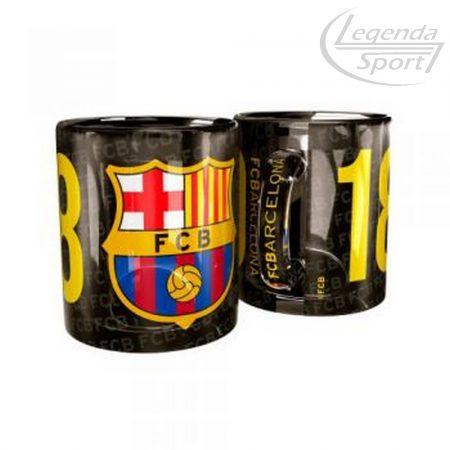 Barcelona bögre üveg cimeres