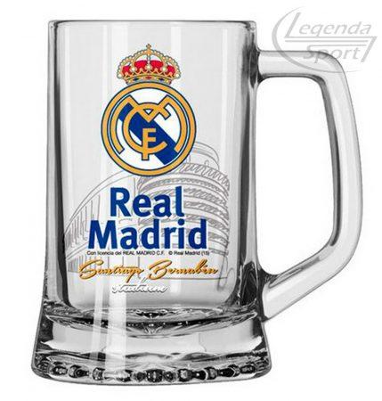 Real Madrid söröskorsó üveg