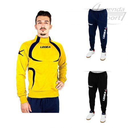 Legea Tokyo edzőmelegítő felső+Tokyo nadrág combo sárga-sötétkék