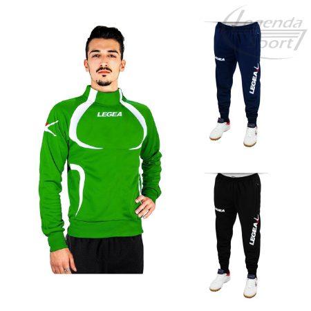 Legea Tokyo edzőmelegítő felső+Tokyo nadrág combo zöld-fehér