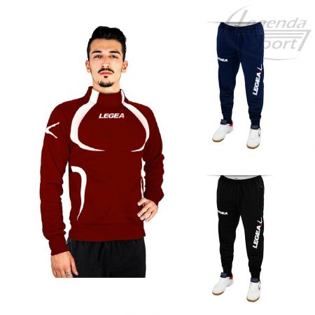 Legea Tokyo edzőmelegítő felső+Tokyo nadrág combo bordó-fehér