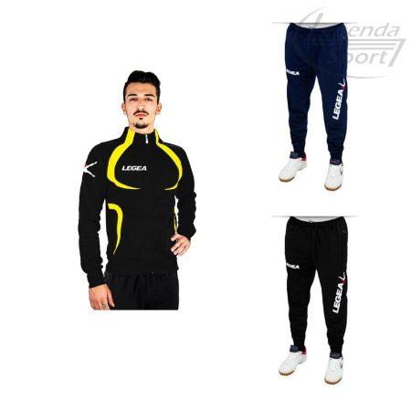 Legea Singapore edzőmelegítő felső+Tokyo nadrág combo fekete-sárga
