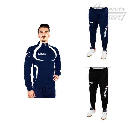 Legea Singapore edzőmelegítő felső+Tokyo nadrág combo sötétkék-fehér