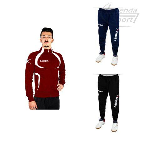 Legea Singapore edzőmelegítő felső+Tokyo nadrág combo bordó-fehér