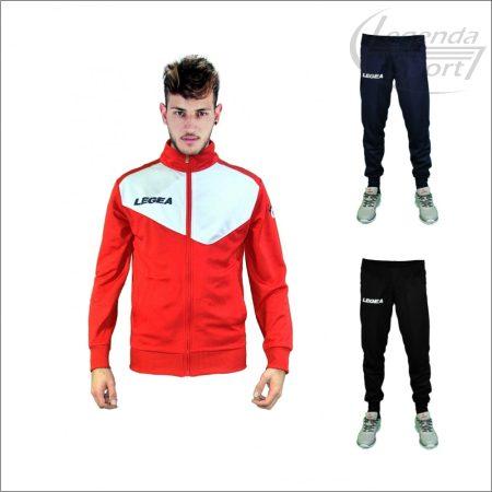 Legea Messico edzőmelegítő felső+Messico nadrág combo piros-fehér