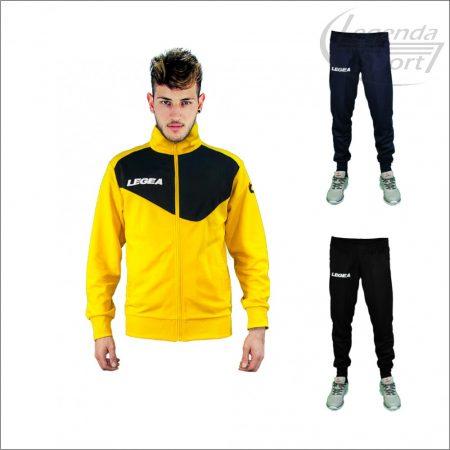 Legea Messico edzőmelegítő felső+Messico nadrág combo sárga-fekete