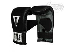Title Pro 3.0 bőr zsákkesztyű, fekete-szürke